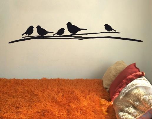 Wandtattoo Vogeltreffen