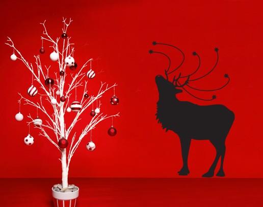Wandtattoo Weihnachts-Rentier