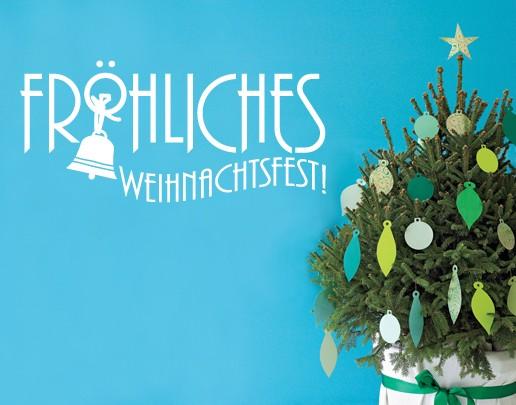 Wandtattoo Fröhliches Weihnachtsfest