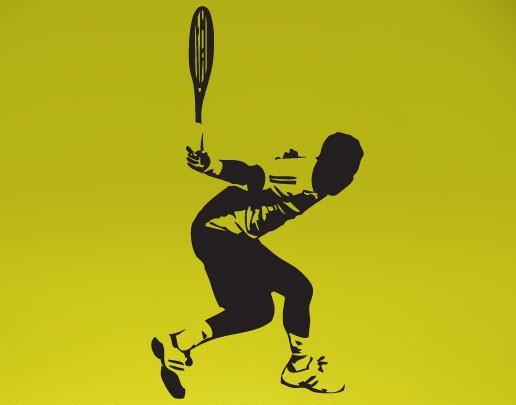 Wandtattoo Tennis-Rückhand