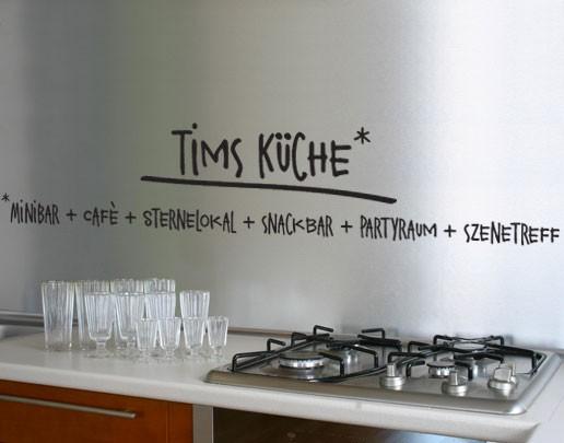 Wandtattoo Wunschtext Küche