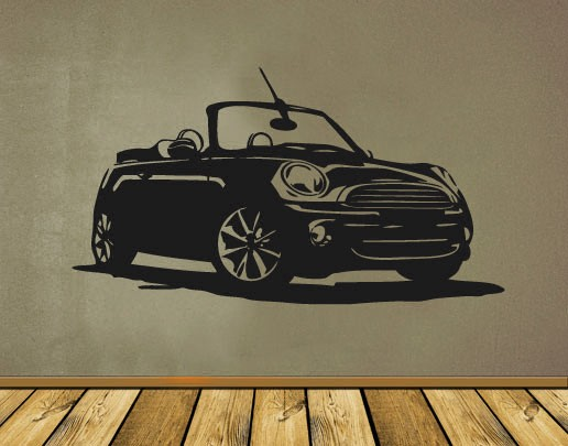 Wandtattoo Mini Cabrio