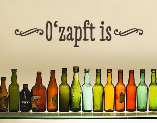 Wandtattoo Ozapft is