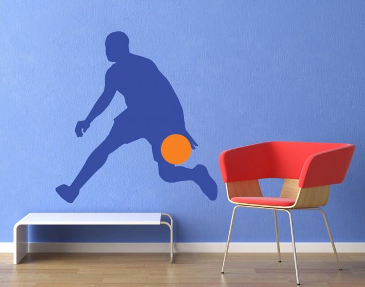 Wandtattoo Basketballer Dribbler 2-farbig