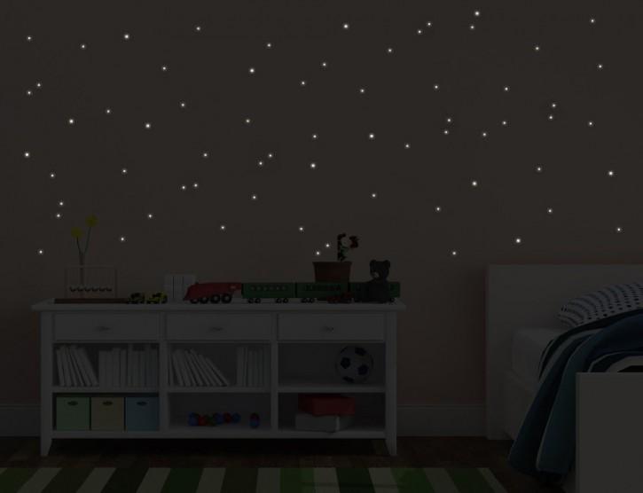 Wandtattoo 144 Stück Leuchtpunkte
