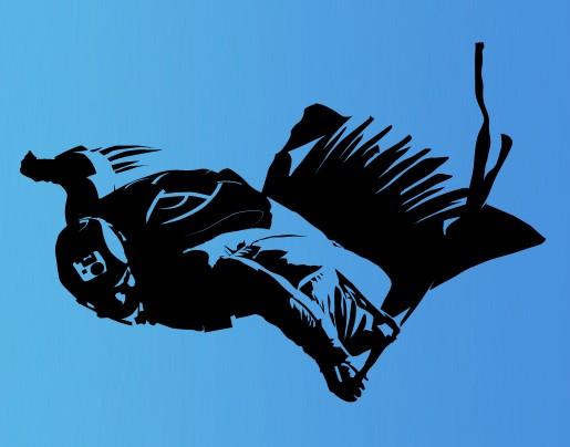 Wandtattoo Wingsuit-Flieger
