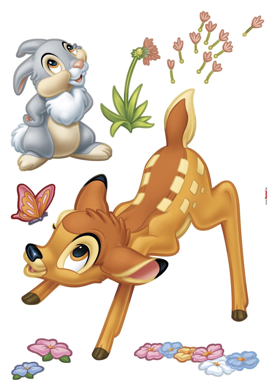 Wandsticker Disneys Bambi und Klopfer frs Kinderzimmer