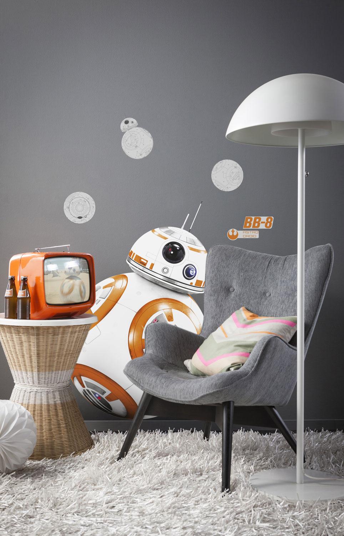 wandsticker star wars bb 8 wandaufkleber kinderzimmer. Black Bedroom Furniture Sets. Home Design Ideas