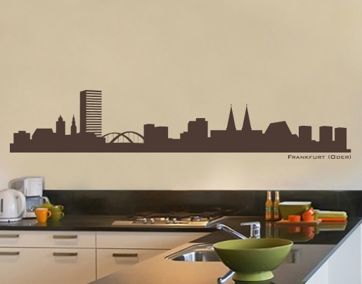 wandtattoo skyline frankfurt oder bei. Black Bedroom Furniture Sets. Home Design Ideas