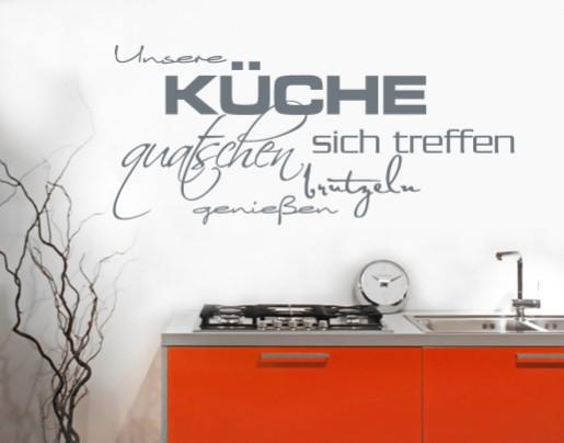 Wandtattoo Unsere Küche - Wandtattoos Zitate und Sprüche