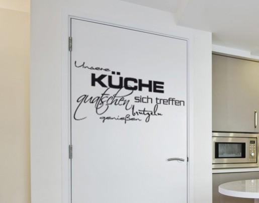 Wandtattoo Unsere Küche Wandtattoos Zitate und Sprüche