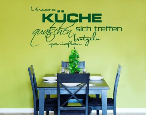 Wandtattoo Unsere Küche - Wandtattoos Zitate und Sprüche | {Wandtattoo küche 26}