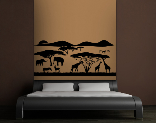 wandtattoo afrikanische savanne bei. Black Bedroom Furniture Sets. Home Design Ideas