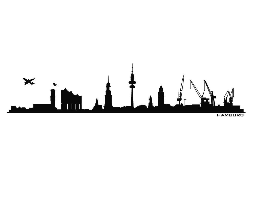 Autoaufkleber - Car-Tattoo Skyline Hamburg bei universumsum.de