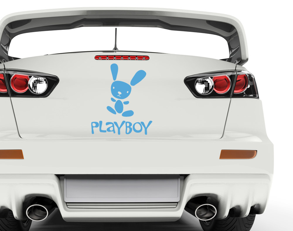 autoaufkleber playboy car tattoos bei. Black Bedroom Furniture Sets. Home Design Ideas