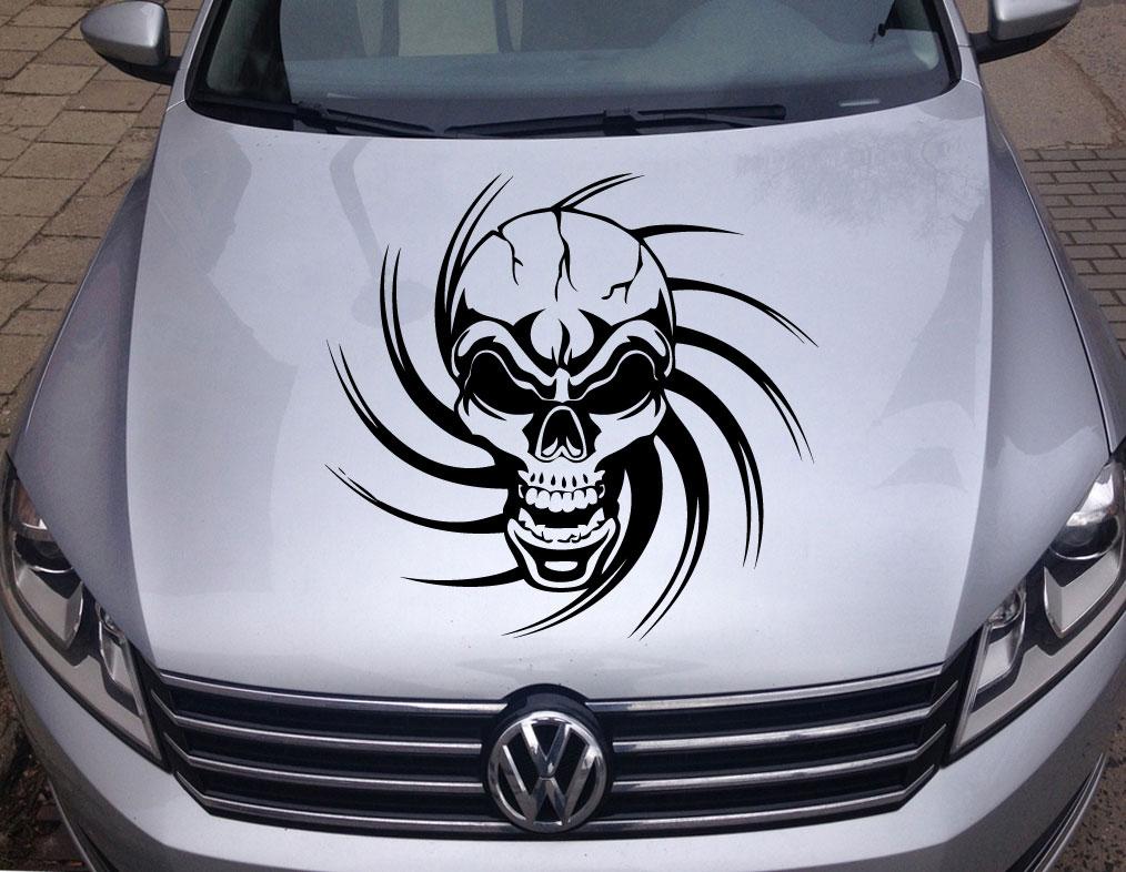 Autoaufkleber Tribal Skull Totenkopf