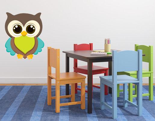 wandsticker eule willi wandaufkleber im kinderzimmer. Black Bedroom Furniture Sets. Home Design Ideas