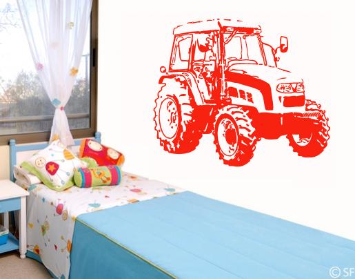 Wandtattoo traktor bestellen sie bei - Wandtattoo traktor kinderzimmer ...