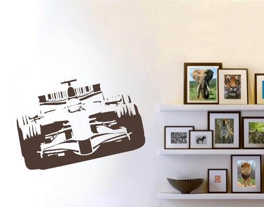 wandtattoo formel 1 rennauto bei. Black Bedroom Furniture Sets. Home Design Ideas