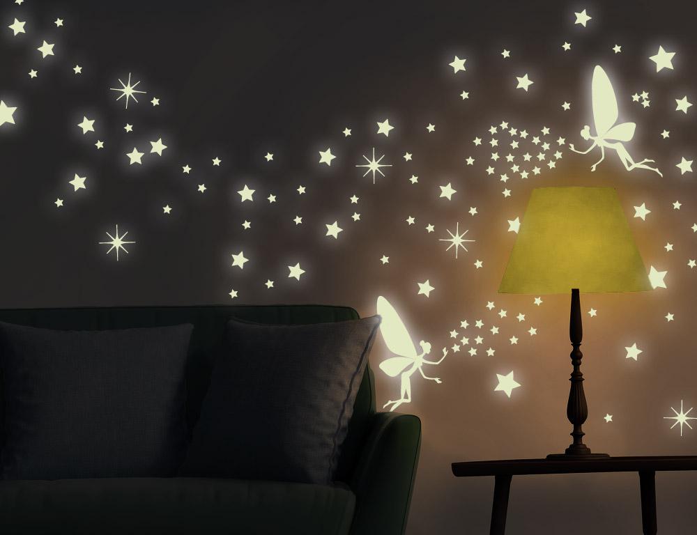 Nachtleuchtendes Wandtattoo Leuchtaufkleber Nachtwachter