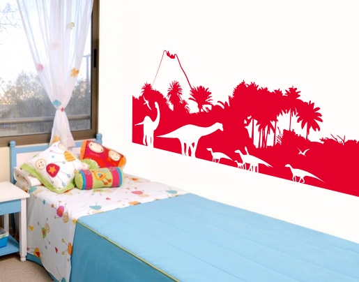wandtattoo dinosaurier wald f rs kinderzimmer bestellen. Black Bedroom Furniture Sets. Home Design Ideas