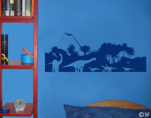 Wandtattoo Dinosaurier Wald Furs Kinderzimmer Bestellen