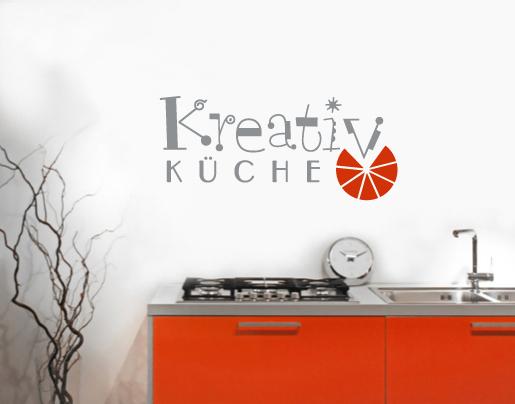 wandtattoo kreativ k che 2 farbig bei. Black Bedroom Furniture Sets. Home Design Ideas