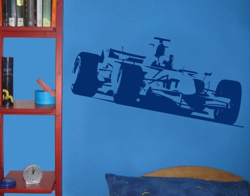 wandtattoo f1 rennwagen bei bestellen. Black Bedroom Furniture Sets. Home Design Ideas