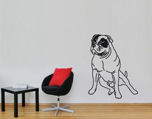 wandtattoo amerikanische bulldogge online bestellen. Black Bedroom Furniture Sets. Home Design Ideas