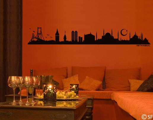 wandtattoo istanbul skyline istanbul wandtattoo. Black Bedroom Furniture Sets. Home Design Ideas