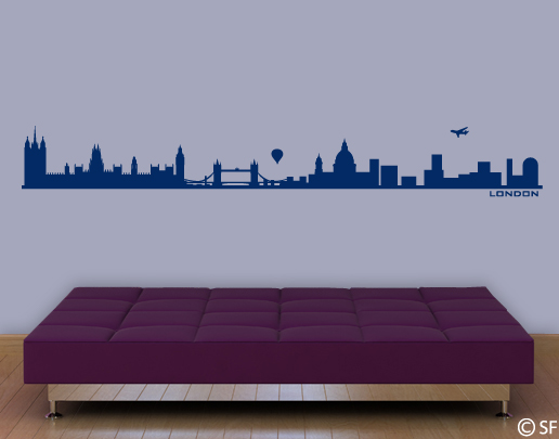 wandtattoo london skyline wandtattoo st dte. Black Bedroom Furniture Sets. Home Design Ideas