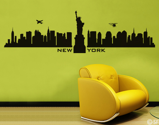 wandtattoo new york skyline wandtattoo st dte. Black Bedroom Furniture Sets. Home Design Ideas