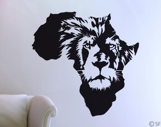 Wandtattoo afrika l we aus der savanne ins wohnzimmer for Wandtattoo afrika