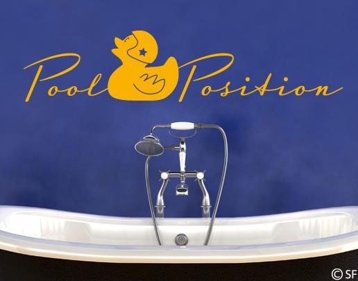 wandtattoo pool position coole wandtattoos f rs bad. Black Bedroom Furniture Sets. Home Design Ideas