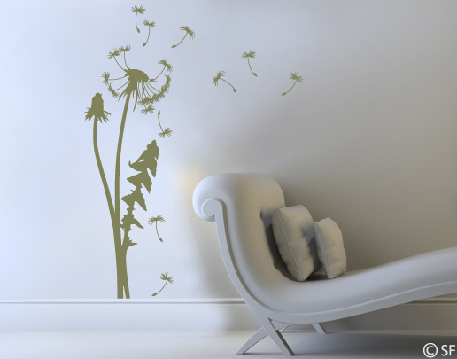 wandtattoo pusteblume wandtattoo blume universumsum. Black Bedroom Furniture Sets. Home Design Ideas