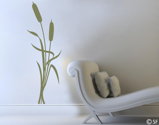 wandtattoo schilf gras dekorativ im wohnzimmer und auch. Black Bedroom Furniture Sets. Home Design Ideas