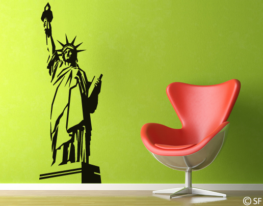wandtattoo new york die freiheitsstatue bei. Black Bedroom Furniture Sets. Home Design Ideas