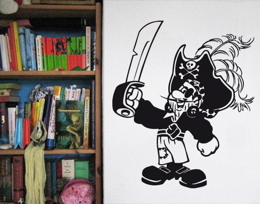 wandtattoo kleiner pirat f rs jungen kinderzimmer. Black Bedroom Furniture Sets. Home Design Ideas