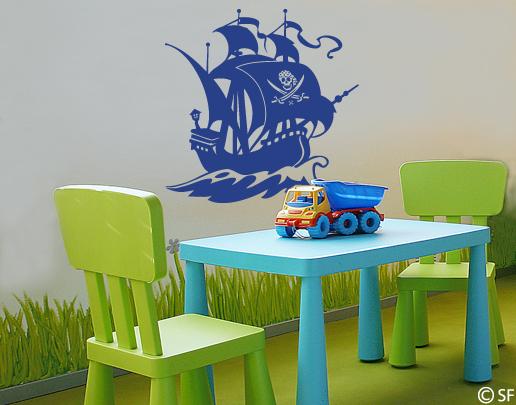 Wandtattoo piratenschiff bei universumsum bestellen for Wandtattoo piratenschiff