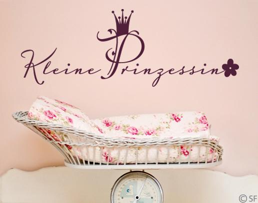 wandtattoo kleine prinzessin f rs m dchen kinderzimmer. Black Bedroom Furniture Sets. Home Design Ideas