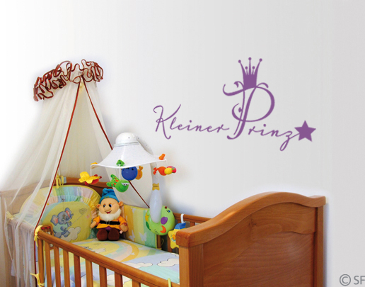 wandtattoo kleiner prinz wandspr che f rs kinderzimmer. Black Bedroom Furniture Sets. Home Design Ideas