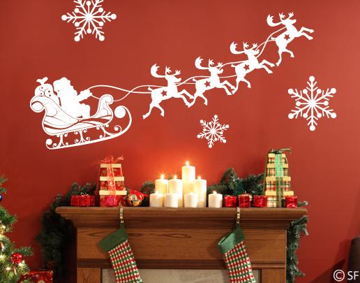 wandtattoo rentierschlitten wandtattoos weihnachten. Black Bedroom Furniture Sets. Home Design Ideas