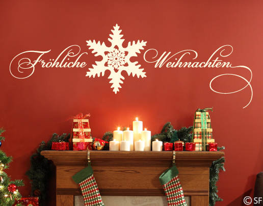 wandtattoo fr hliche weihnachten. Black Bedroom Furniture Sets. Home Design Ideas