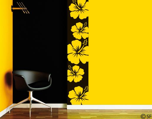 wandtattoo bord re hibiskus universumsum wandtattoos. Black Bedroom Furniture Sets. Home Design Ideas
