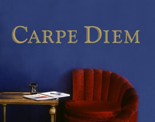 wandtattoo carpe diem wandtattoo spruch universumsum. Black Bedroom Furniture Sets. Home Design Ideas