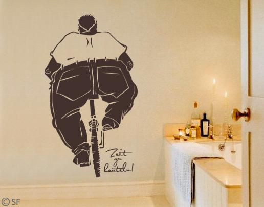 wandtattoo zeit zu hanteln coole wandtattoos. Black Bedroom Furniture Sets. Home Design Ideas