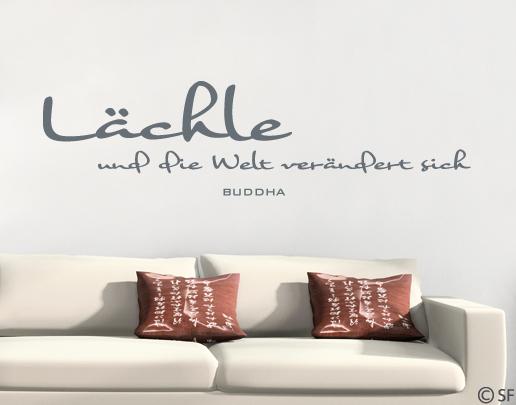 wandtattoo l chle und die welt ver ndert sich buddha. Black Bedroom Furniture Sets. Home Design Ideas