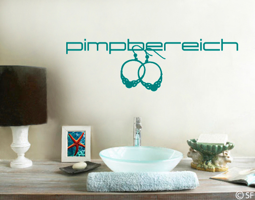 wandtattoo pimpbereich dekorative wandtattoos f rs bad. Black Bedroom Furniture Sets. Home Design Ideas