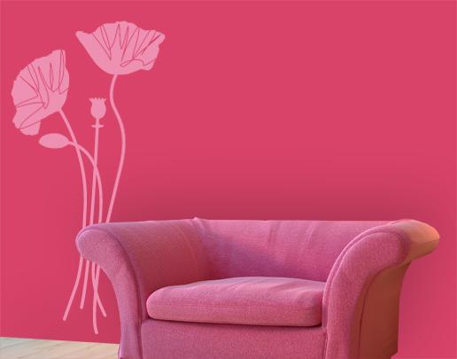 wandtattoo mohnblumen wandtattoo blume universumsum. Black Bedroom Furniture Sets. Home Design Ideas