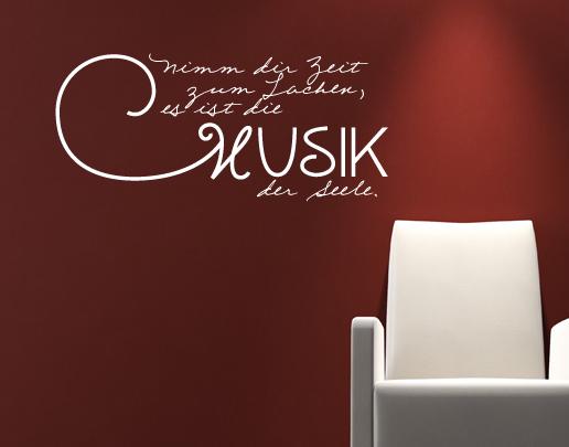 wandtattoo nimm dir zeit zum lachen sch ne spr che f r die wand. Black Bedroom Furniture Sets. Home Design Ideas